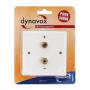 Audio Dynavox LS wandplaat wit - 2 voudig